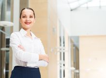 Portrait of a beautiful business woman Royalty Free Stock Photo