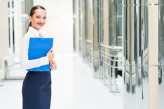 Portrait of a beautiful business woman Stock Image