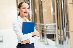 Portrait of a beautiful business woman Royalty Free Stock Images