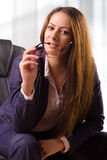 Portrait of beautiful business woman with glasses Royalty Free Stock Photo