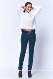 Portrait of beautiful business woman lady style perfect body Stock Image
