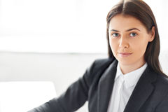 Portrait of beautiful business woman in the office Stock Photography