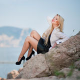 Portrait of a beautiful business woman outdoors Royalty Free Stock Photography