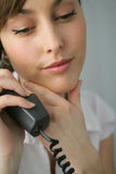 Portrait of a beautiful businesswoman. Talking on the phone Royalty Free Stock Images