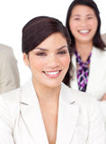 Portrait of a beautiful businesswoman and her team Stock Images