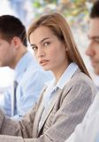 Portrait of beautiful businesswoman at meeting Royalty Free Stock Photo