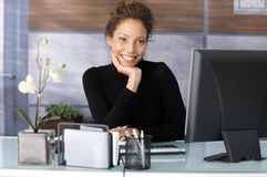 Portrait of beautiful businesswoman in office Royalty Free Stock Image
