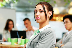 Portrait of a beautiful businesswoman Stock Images