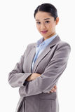 Portrait of a beautiful businesswoman posing with the arms cross Royalty Free Stock Photo