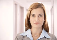 Portrait of beautiful businesswoman smiling Royalty Free Stock Photos