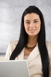 Portrait of beautiful businesswoman smiling Royalty Free Stock Image