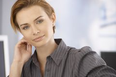 Portrait of beautiful businesswoman Stock Photo