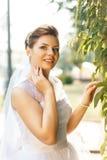 Portrait of beautiful caucasian bride Royalty Free Stock Image