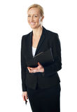 Portrait of beautiful caucasian businesswoman Stock Photo