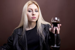 Portrait of beautiful caucasian girl Stock Photos