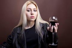Portrait of beautiful caucasian girl Stock Photos