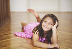 Portrait of a beautiful Caucasian girl posing for camera. Royalty Free Stock Photos