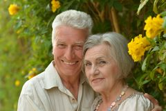 Senior couple smiling Royalty Free Stock Images