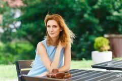 Portrait of beautiful caucasian woman royalty free stock photo
