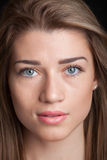 Portrait of beautiful caucasian young woman Stock Photos