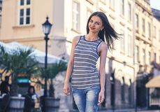Portrait of beautiful charming smiling woman Royalty Free Stock Photo