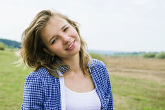 Portrait of a beautiful cheerful girl Royalty Free Stock Images