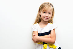 Portrait of a beautiful cheerful little girl Royalty Free Stock Photos