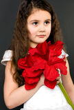Portrait of a beautiful child girl Stock Image