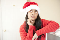 Portrait of beautiful Christmas girl Royalty Free Stock Image