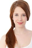Portrait of beautiful clear face smiling Royalty Free Stock Images