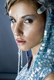 Portrait of a beautiful cold winter women Stock Photography
