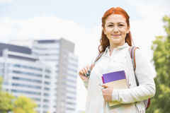 Portrait of beautiful college student at campus Royalty Free Stock Photography