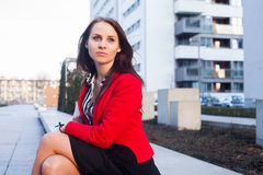 Portrait of a beautiful confident female executive. Royalty Free Stock Photos