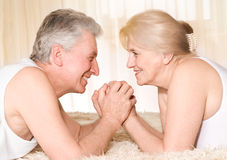Portrait of a beautiful couple Stock Images