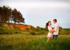 Portrait of a beautiful couple Stock Photos