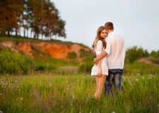 Portrait of a beautiful couple Royalty Free Stock Image