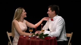 Portrait of beautiful couple enjoying each other's stock video