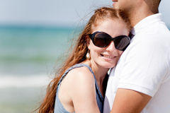 Portrait Of A beautiful Couple Hugging Stock Image