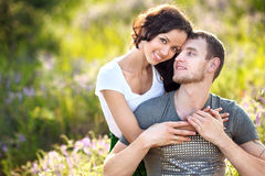Portrait of a beautiful couple Royalty Free Stock Photography