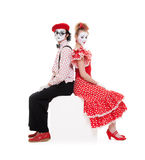 Portrait of beautiful couple mimes Stock Photography