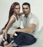 Portrait of beautiful couple Royalty Free Stock Photo