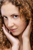 Portrait of beautiful curly girl Royalty Free Stock Photos