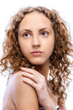 Portrait of beautiful curly girl Royalty Free Stock Image