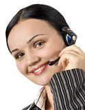 Portrait of beautiful customer support Stock Photography