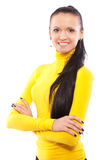 Portrait of beautiful dark-haired girl Royalty Free Stock Images