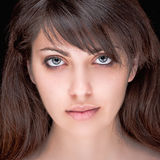 Portrait of beautiful dark-haired girl Stock Image