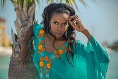 Portrait beautiful dark-skinned latin girl Royalty Free Stock Photo