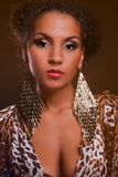 Portrait of a beautiful dark-skinned woman Royalty Free Stock Photo