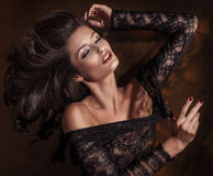 Portrait of beautiful delicate woman Royalty Free Stock Photos