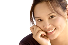 Portrait of a beautiful eastern young lady smiling Royalty Free Stock Photography
